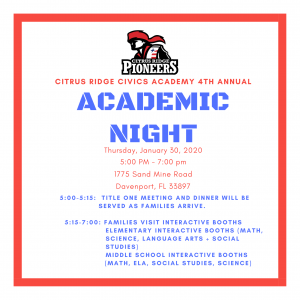 Academic Night presented by Title I @ Citrus Ridge
